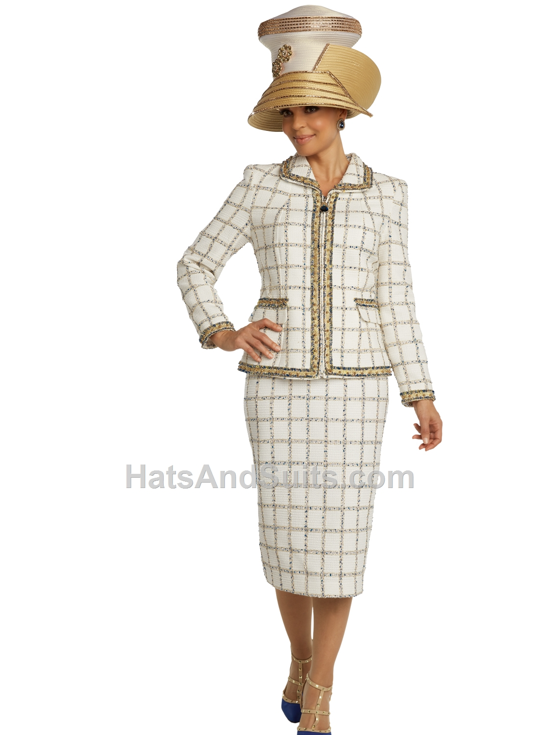 5690 Donna Vinci Couture 2 Pc. Jacket & Skirt Set. SP20