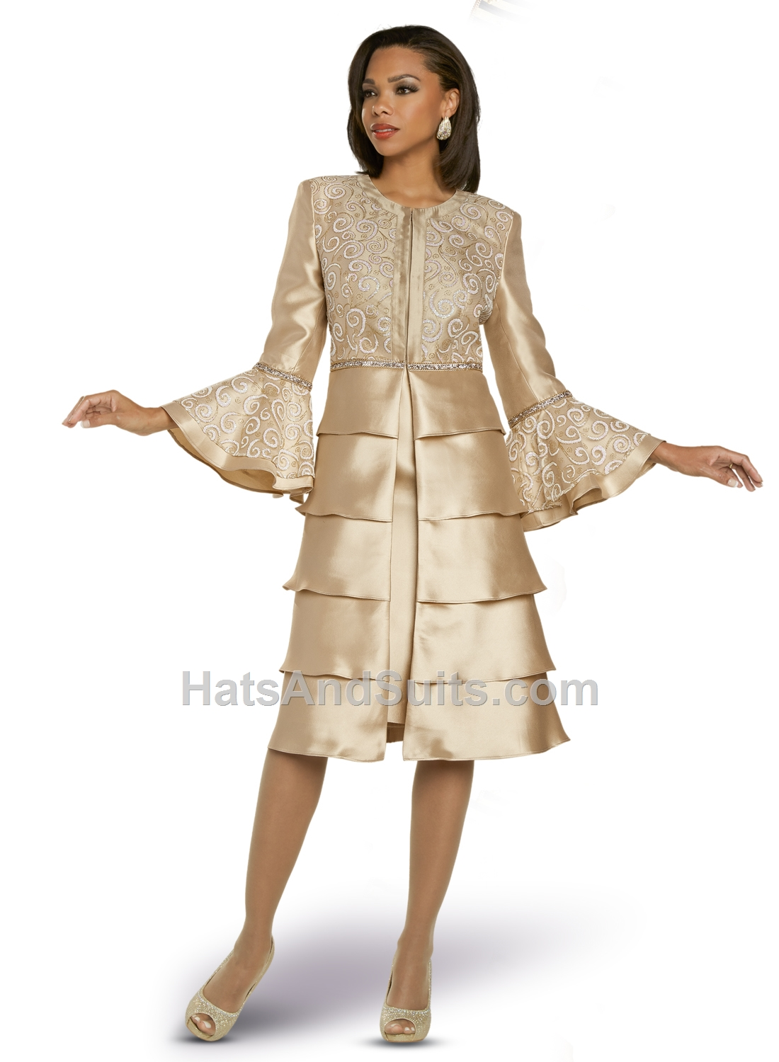 11876 Donna Vinci 2 Pc. Dress & Jacket Set. FL20