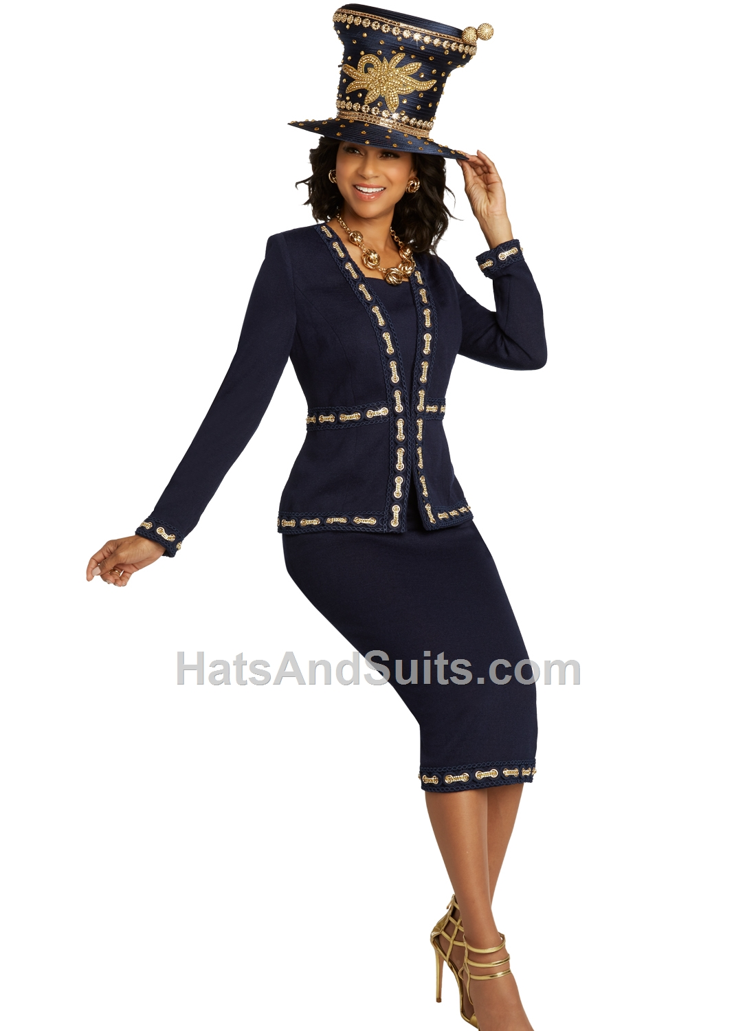 13293 Donna Vinci KNITS Women Suit, 2 Pc. Jacket & Skirt Set. SP20