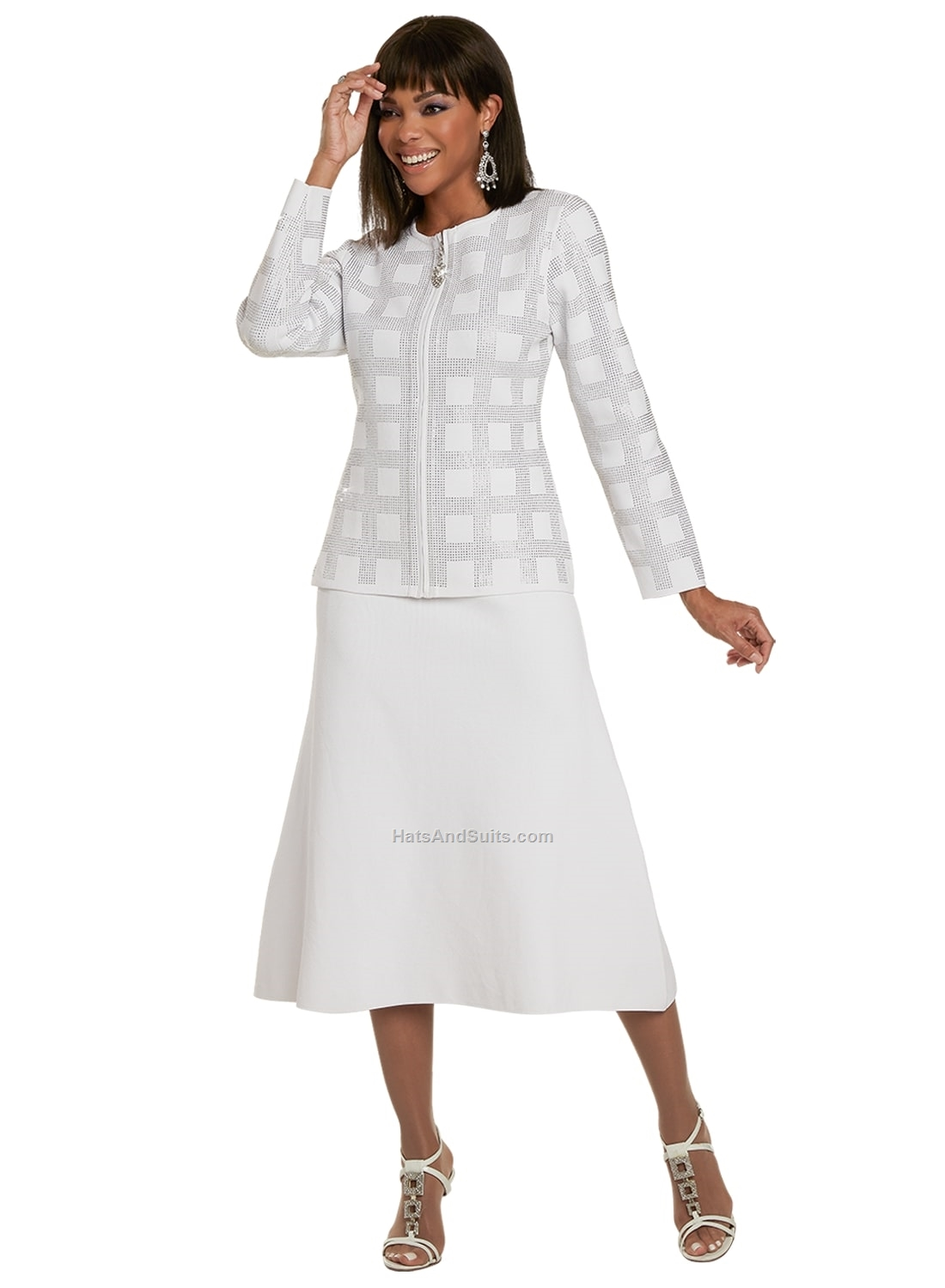 13306 Donna Vinci KNITS Women Suit, 2 Pc. Jacket & Skirt Set. SP21
