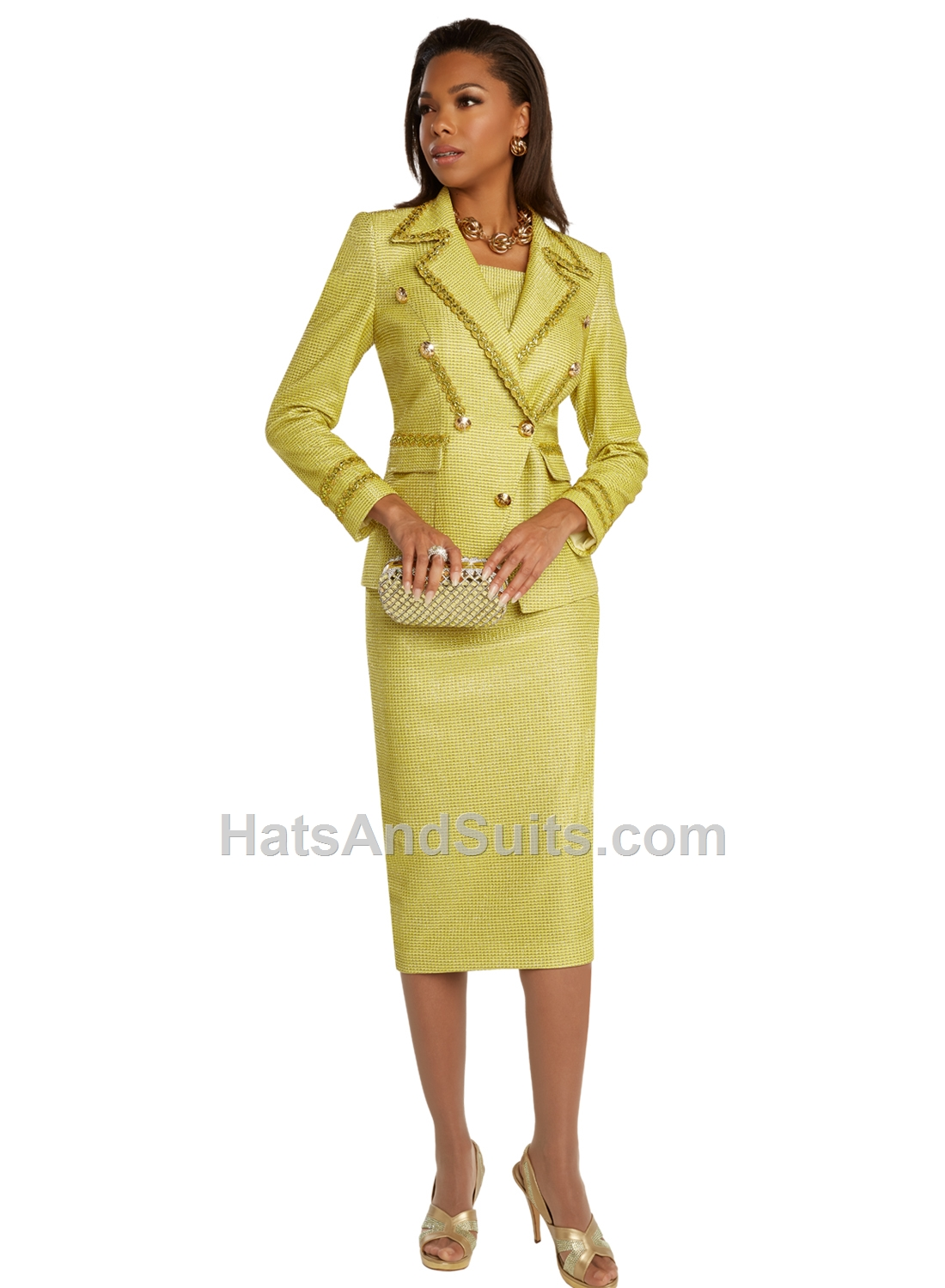 5683 Donna Vinci Couture 2 Pc. Jacket & Skirt Set. SP20