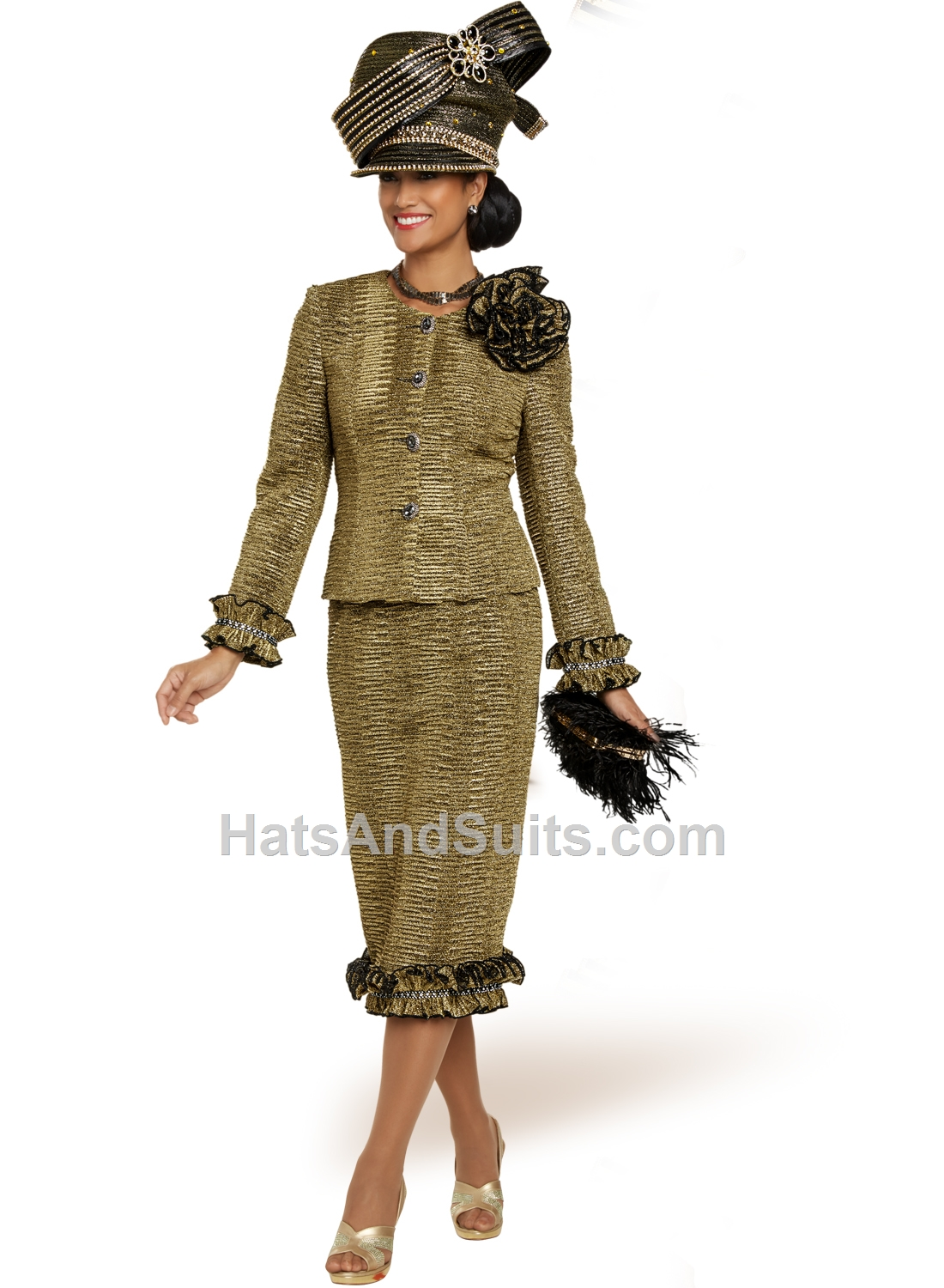 5708 Donna Vinci Couture 2 Pc. Jacket & Skirt Set. FL20