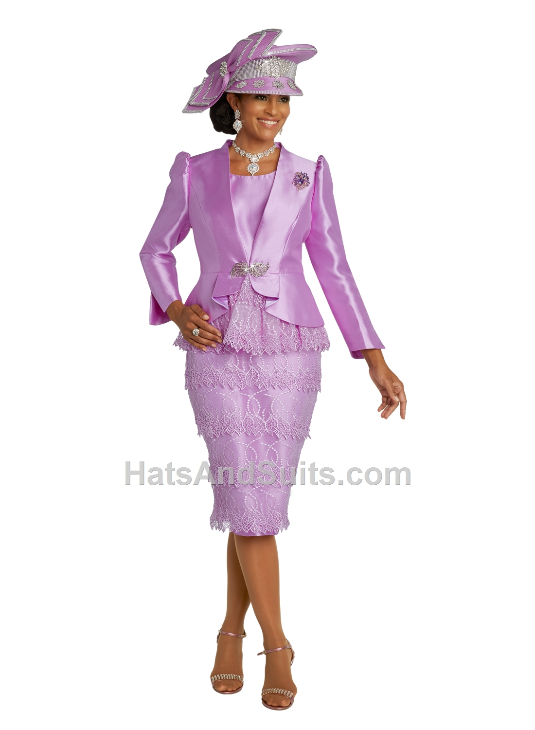11829 Donna Vinci 2 Pc. Dress & Jacket Set. SP20