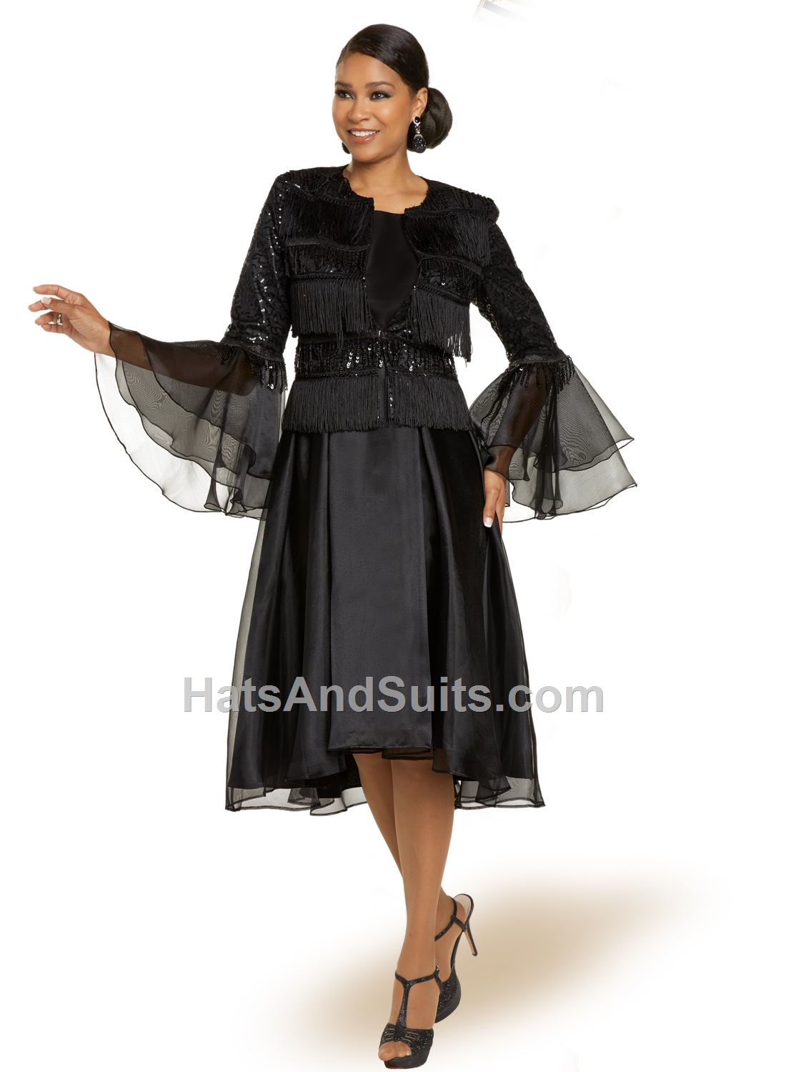 11878 Donna Vinci 2 Pc. Dress & Jacket Set. FL20
