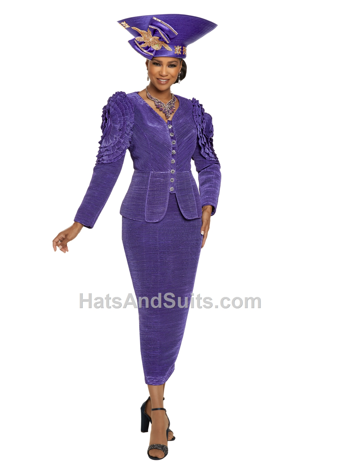 11880 Donna Vinci 2 Pc. Jacket & Skirt Set. FL20