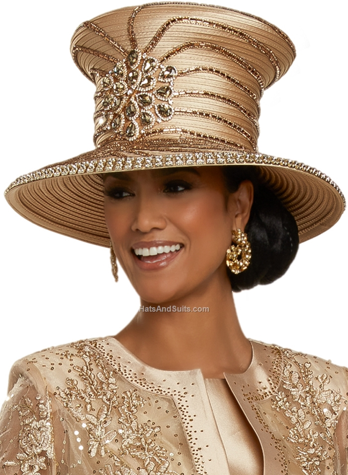 DonnaVinci Couture Hat H5698, With DVC Hat Box. FL20