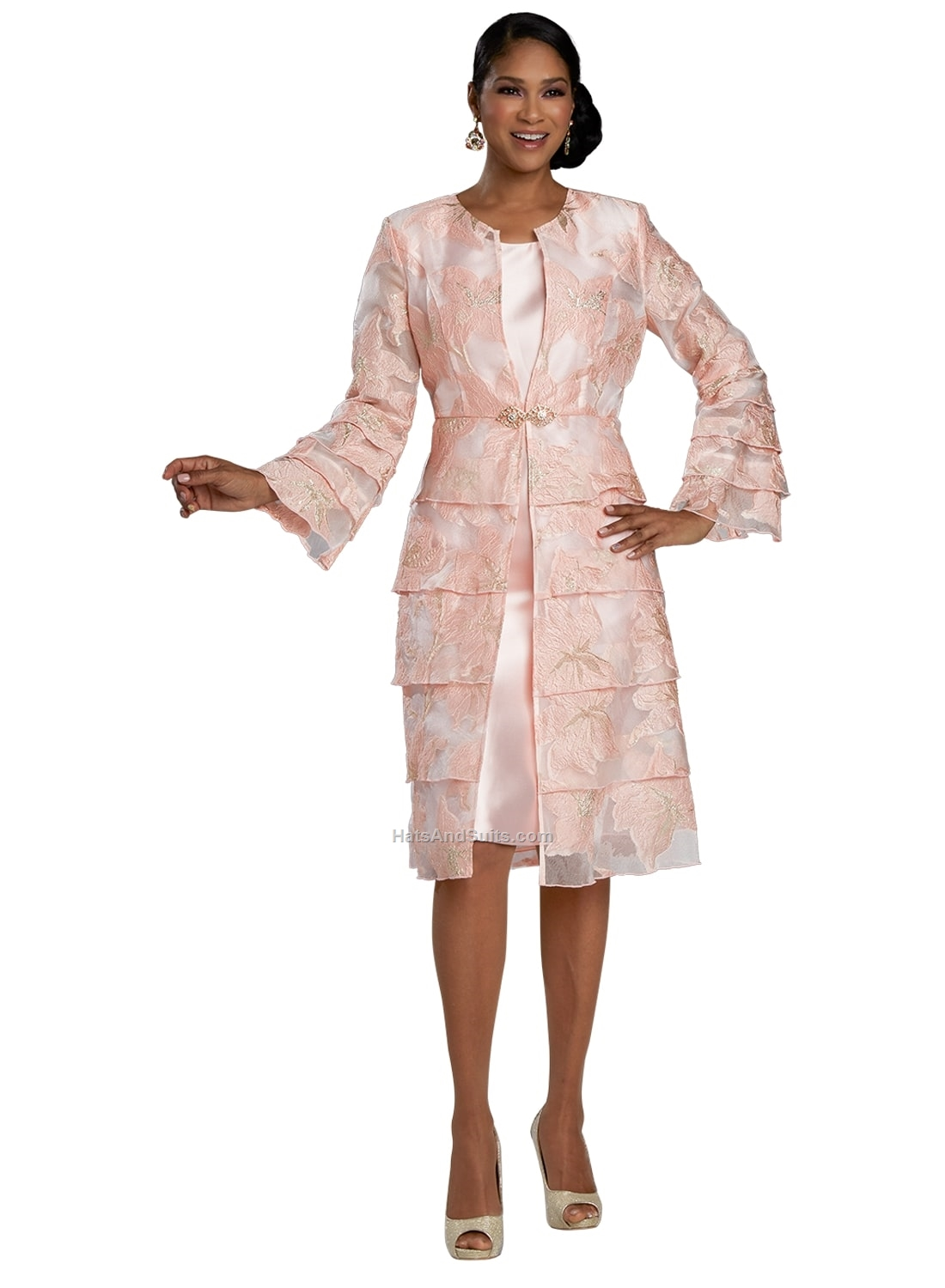 11920 Donna Vinci 2 Pc. Dress & Jacket Set. SP21