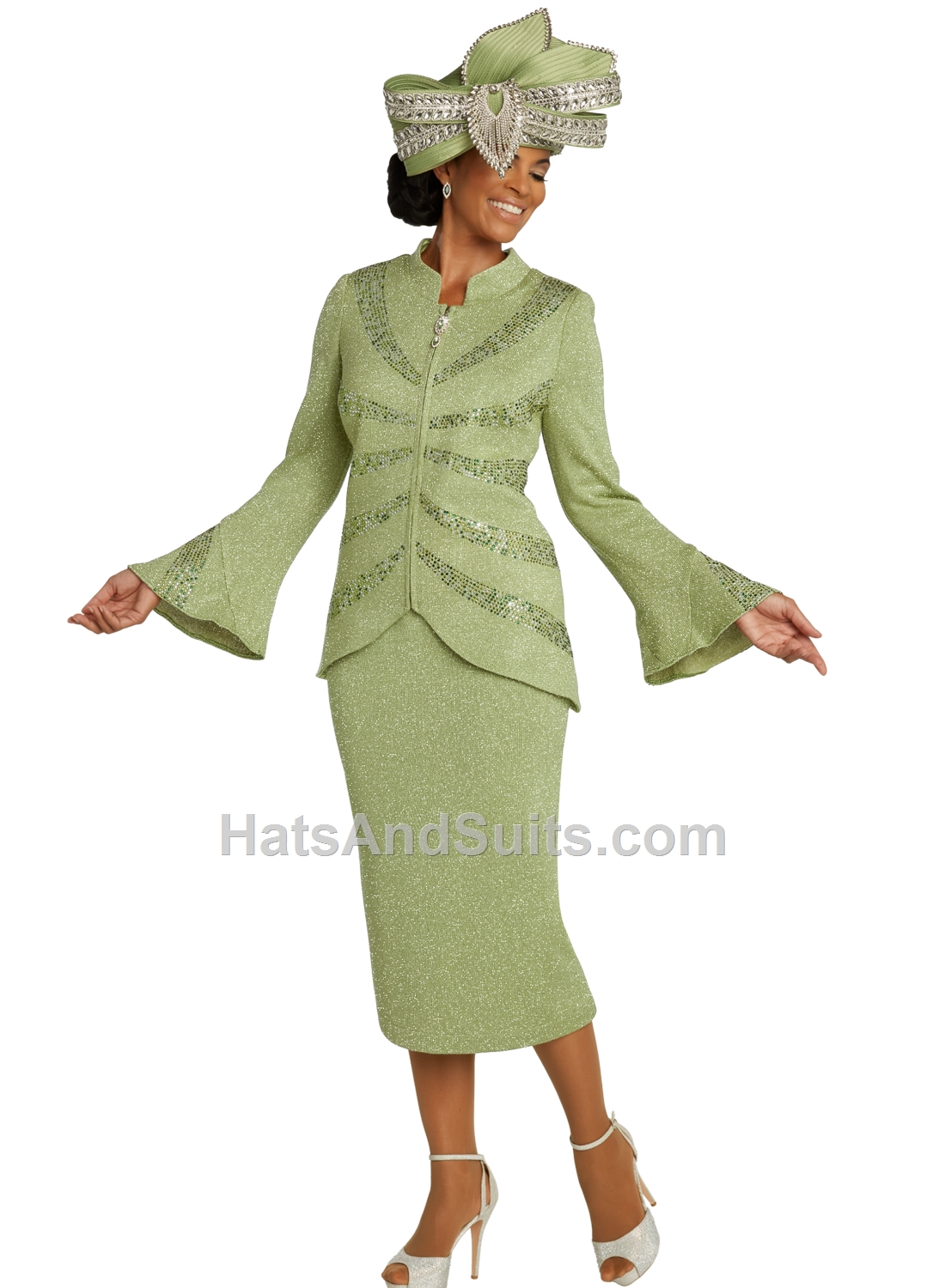 13296 Donna Vinci KNITS Women Suit, 2 Pc. Jacket & Skirt Set. SP20