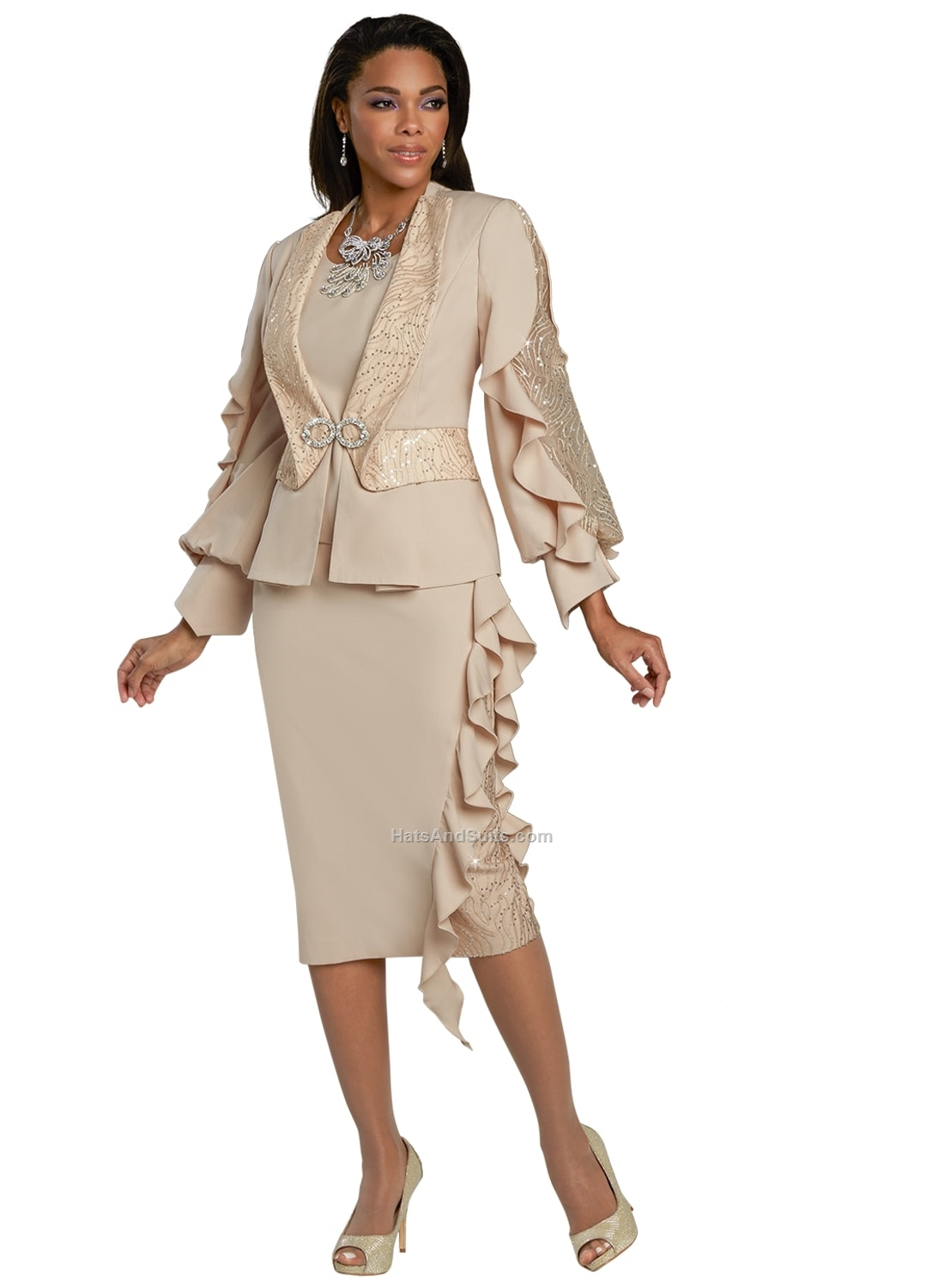 5726 Donna Vinci Couture 3 Pc. Jacket/Cami & Skirt Set. SP21